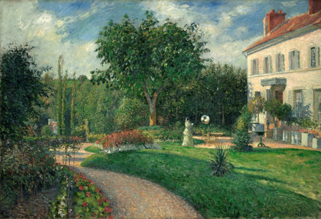 The Garden Of Les Mathurins At Pontoise By Camille